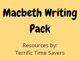 Macbeth planning & resources
