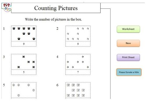 Counting Pictures (Early Years Maths) Software