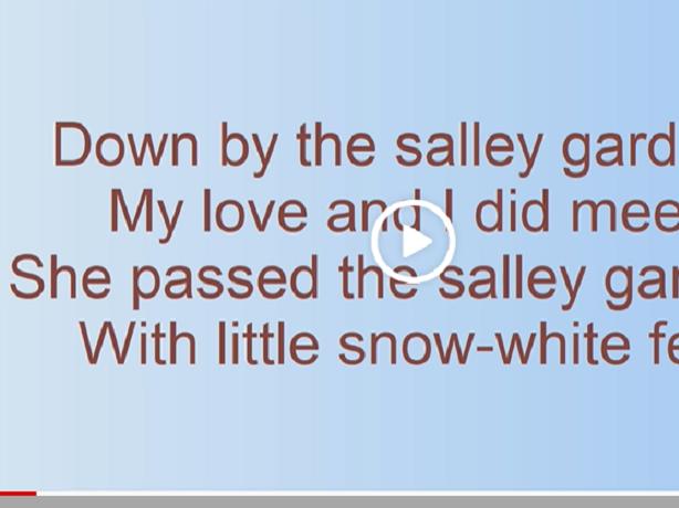 Salley Gardens - Irish song  with lyrics
