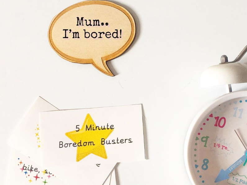 5 Minute Boredom Buster Cards