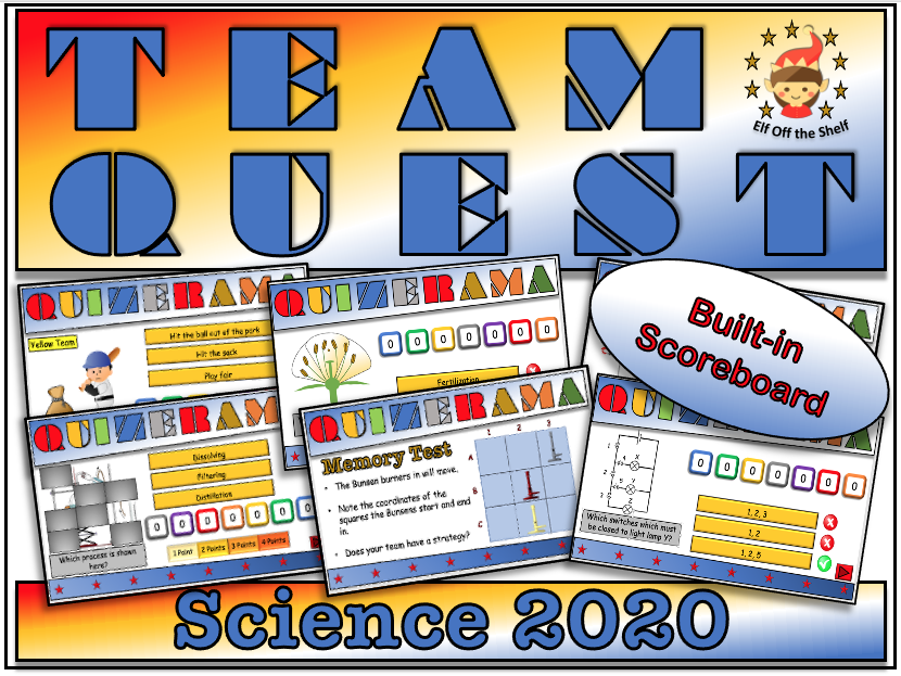 Science Team Quest  2020 - Team Building Quiz for KS3