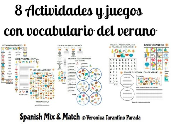 8 GAMES AND ACTIVITIES TO PRACTICE SUMMER VOCABULARY IN SPANISH (PRIMARY)