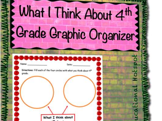 What I Think About 4th Grade Graphic Organizer
