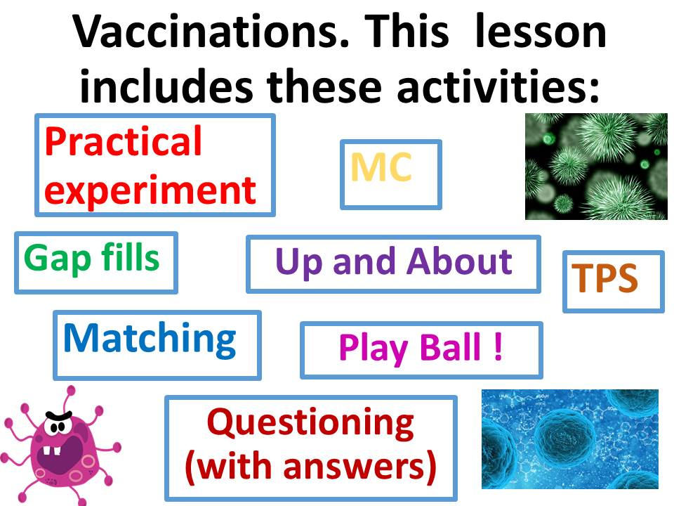Vaccinations, advantages, disadvantages, immunity, antibodies, spread of pathogens. Complete lesson.