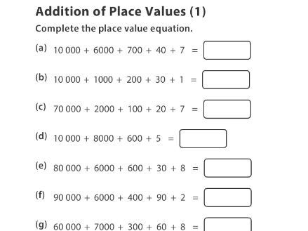 Addition of Place Values (1)