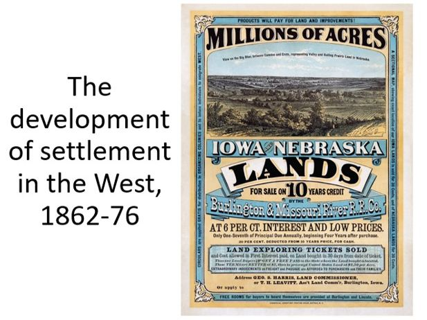 Settlement in the American West, 1862-76