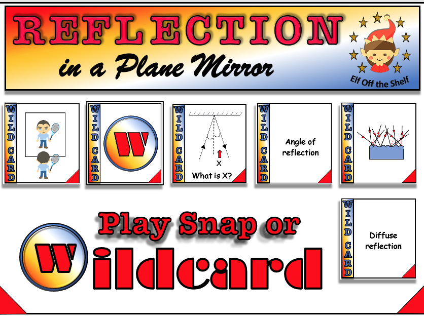 Light - Reflection - Wildcard & Snap Card Games KS3