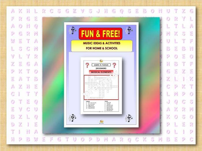 FUN&FREE - CROSSWORD - MUSICAL ELEMENTS (Covid 19)