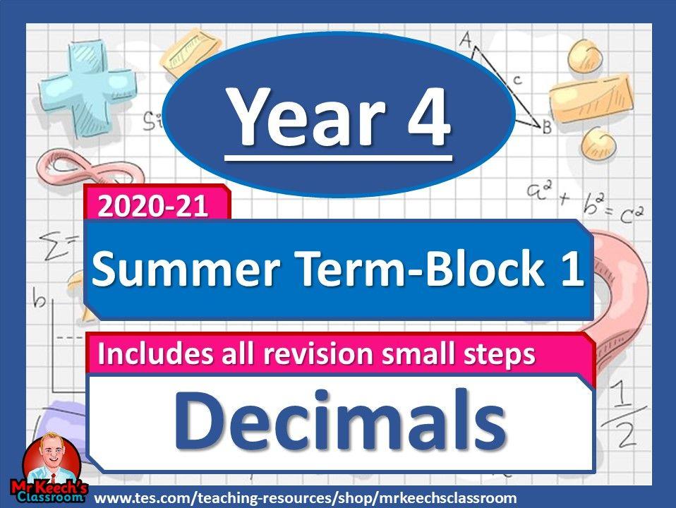 Year 4 - Decimals - Summer Block 1 - White Rose Maths
