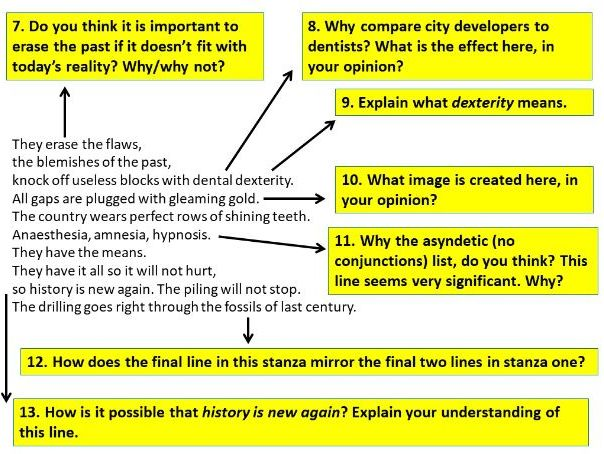 The Planners by Boey Kim Cheng - Lesson and Model Paragraph - Poetry iGCSE 2023-25