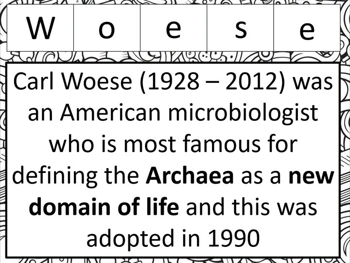 Three domain classification (OCR A-level Biology)
