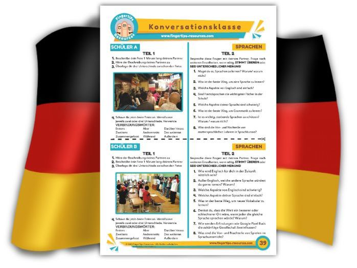 Sprachen - German Speaking Activity