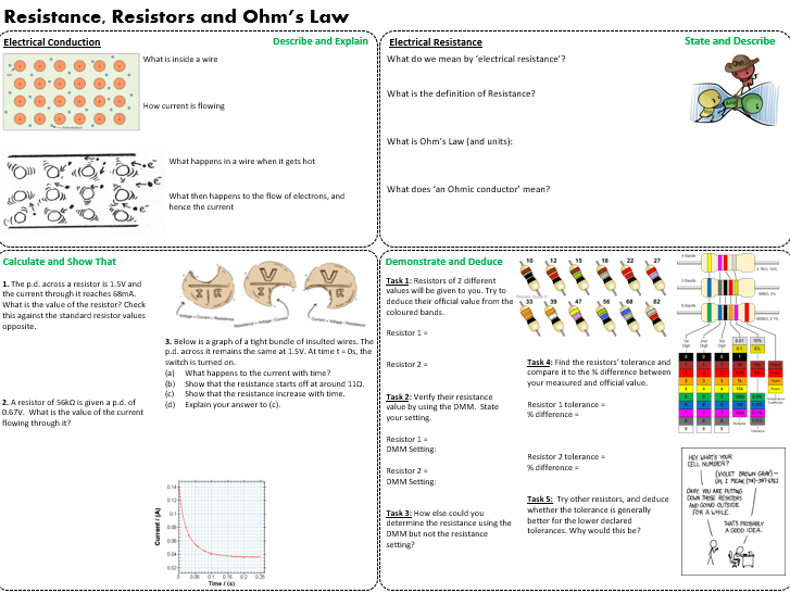 A level - Resistance and Resistors