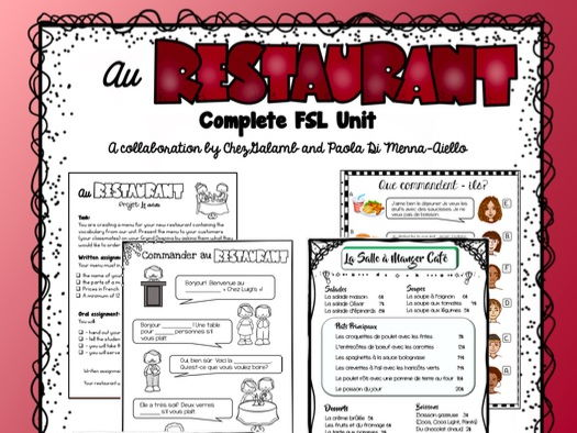 Au Restaurant - French Unit