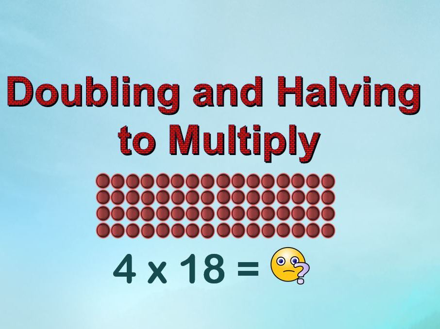 Doubling-and-Halving Strategy to Multiply (with Arrays)