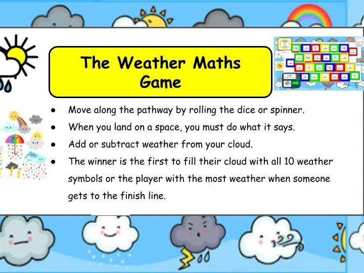 Weather Maths Game KS1/SEN/EYFS