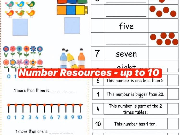 Year 1 Numbers to 10 Resources