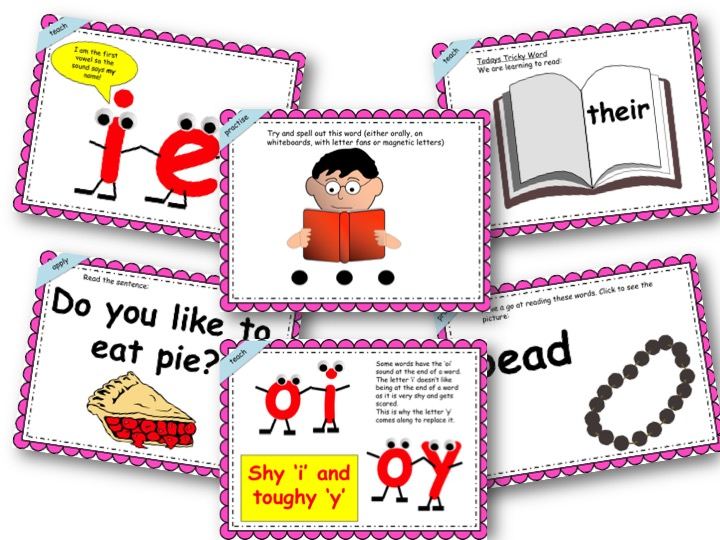Phonics Powerpoint, Phase 5, Week 1 (ie,ea,oe,ay,oy)