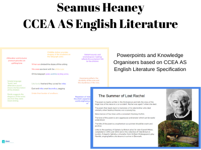 Seamus Heaney: CCEA AS English Literature