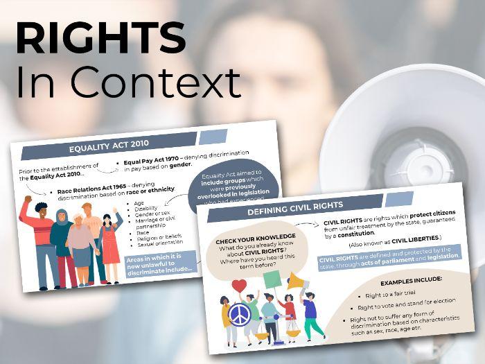 Rights in Context - Edexcel A Level Politics