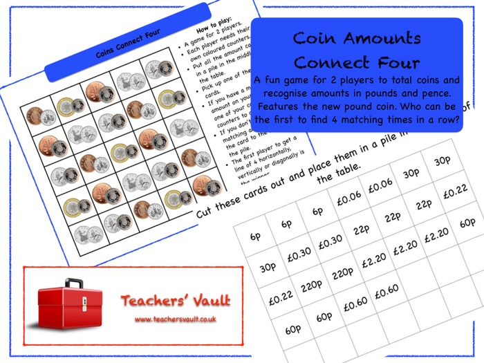 Coin Amounts Connect Four