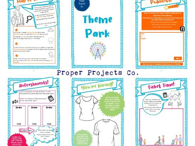 THEME PARK PROJECT - 35 Page Self-Guided Learning Pack