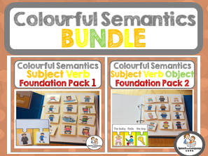 Colourful Semantics Foundation BUNDLE - Subject Verb & Subject Verb Object
