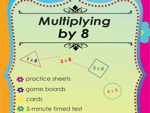 Multiplying by 8 - Free Multiplication Math Games and Lesson Plans Freebie