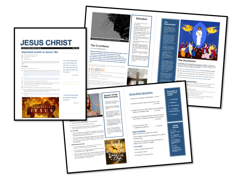 AQA Exam Booklet: Christian Beliefs and Teachings: Jesus Christ