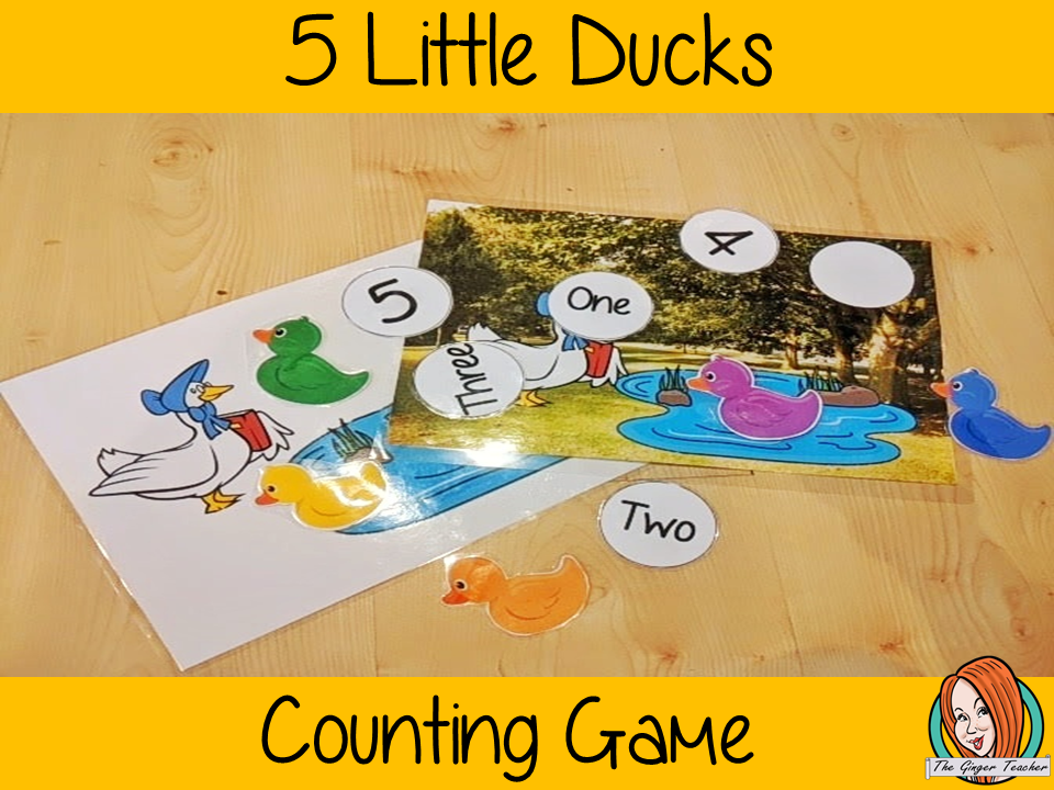 Five Little Ducks Numbers Game