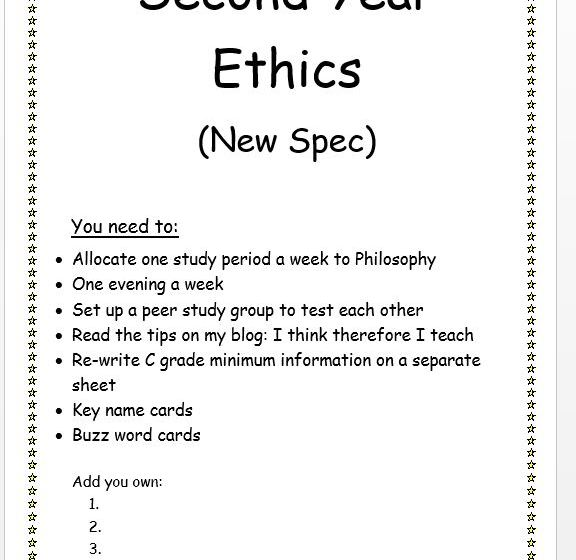 Ethics Revision Pack: A2 New Spec