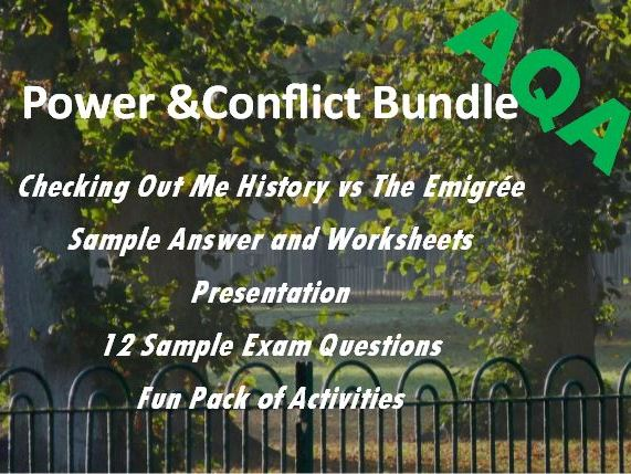 Power and Conflict: Sample Answer, Fun Pack and Exam Questions
