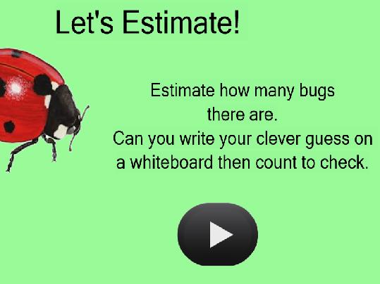 Mini Beast Estimation IWB activity for EYFS/KS1