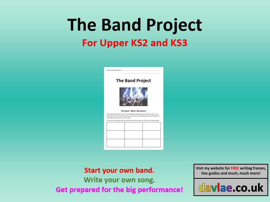 The Band Project - for Upper KS2 or KS3