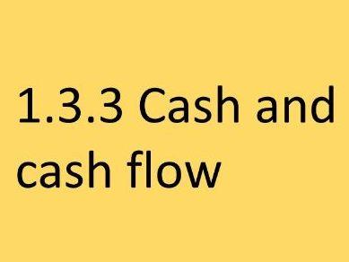 Edexcel GCSE Business UPDATED 1.3.3 Cash and cash flow