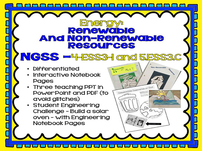 4th and 5th Grade Energy - Renewable and Non-Renewable  w/Engineering Challenge