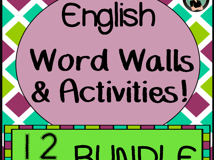 Word Walls & Activities, English version {BUNDLE!} All 12 months! Whole Year