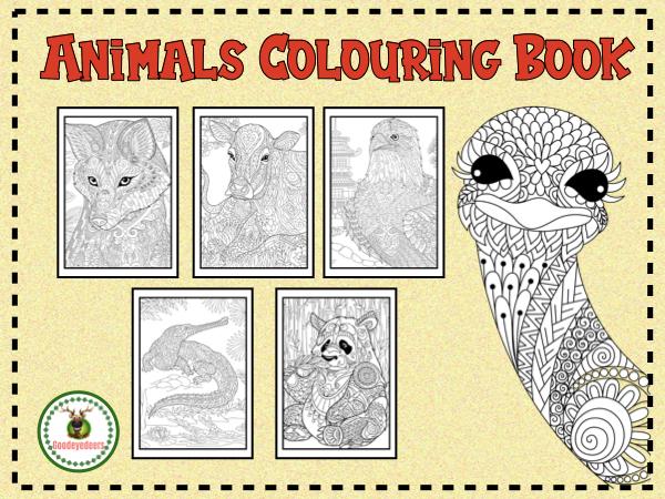 Animal Colouring Book - A Wildlife Adventure