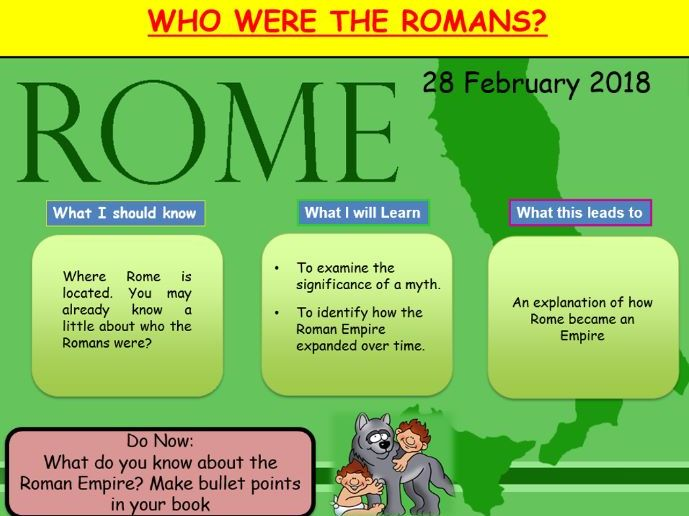 The Roman Empire Lesson with resources and Italian/Romanian translation