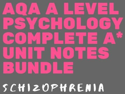 AQA A Level Psychology - Schizophrenia bundle