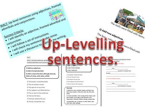 Up-leveling sentences.