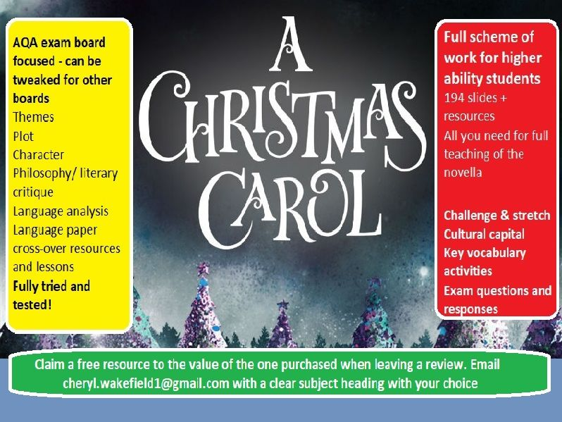 Christmas Carol for higher ability full scheme of work, 194 slide PPT PLUS resources!