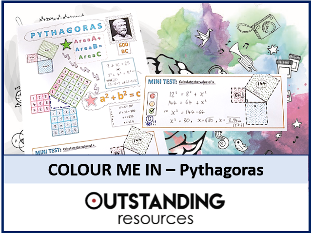 Colour Me In Sheets or Doodle Notes - PYTHAGORAS