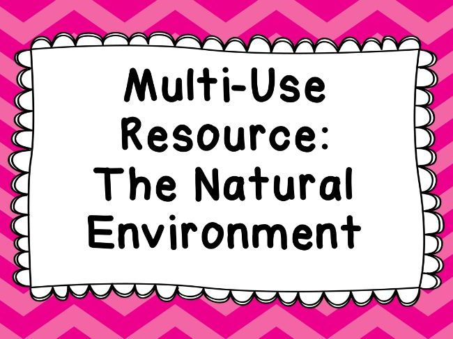 Geography Multi-Use Resource The Natural Environment