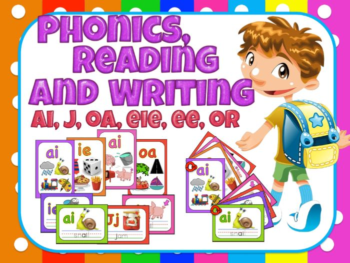 Jolly Phonics- Reading and writing for centers - ai,j,oa,ie,ee,or