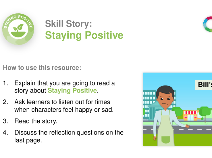 Staying Positive skill story