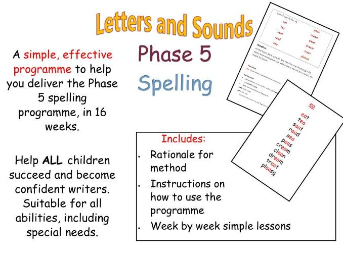 Phase 5 spelling prgramme Letters and Sounds