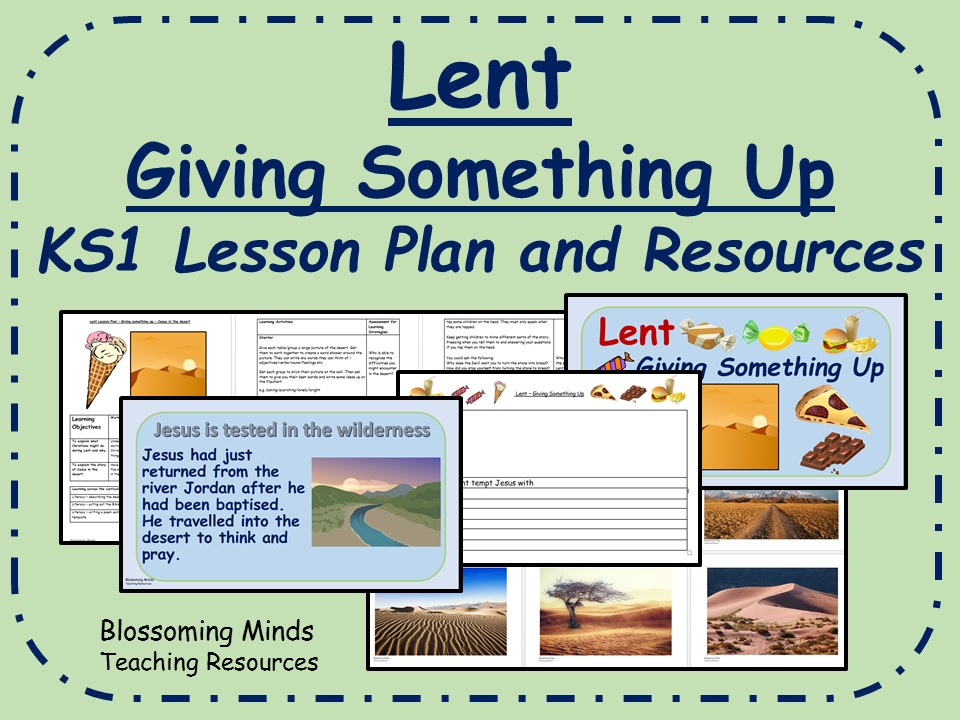 KS1 Lent Lesson Plan and Resources - Giving Something Up
