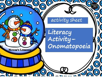 Literacy activity worksheet - onomatopoeia
