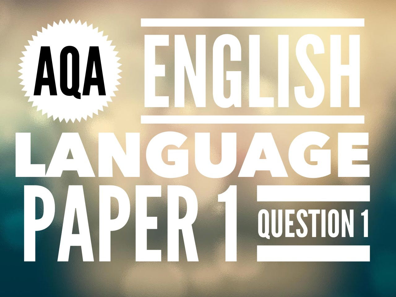 english language 1 Buy gcse english language aqa revision guide - for the grade 9-1 course ( cgp gcse english 9-1 revision) by cgp books (isbn: 9781782943693) from.